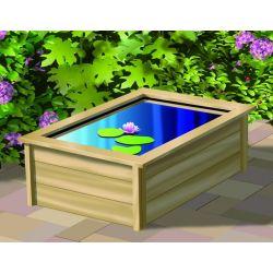 Kit Quadro 1 - Bassin 225L + contour en bois + Pompe