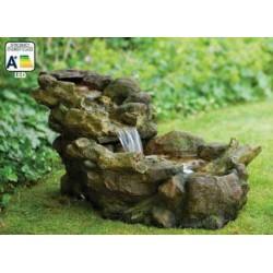 ASPEN - Fontaine naturelle aspect souche en bois   LED