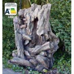 SAN DIEGO - Fontaine naturelle souche d'arbre   LED