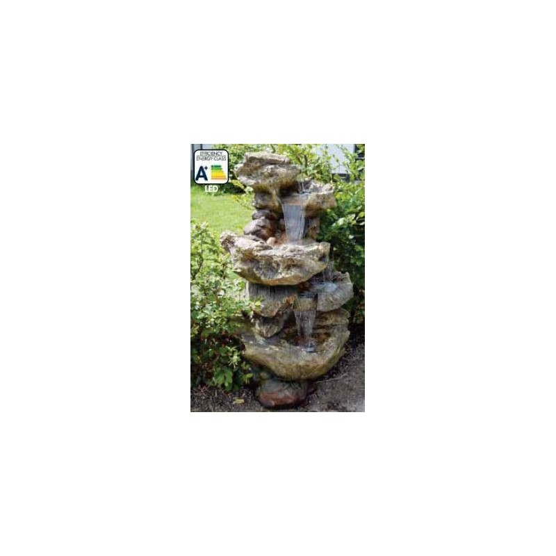 NORFOLK - Grande fontaine naturelle rochers   LED