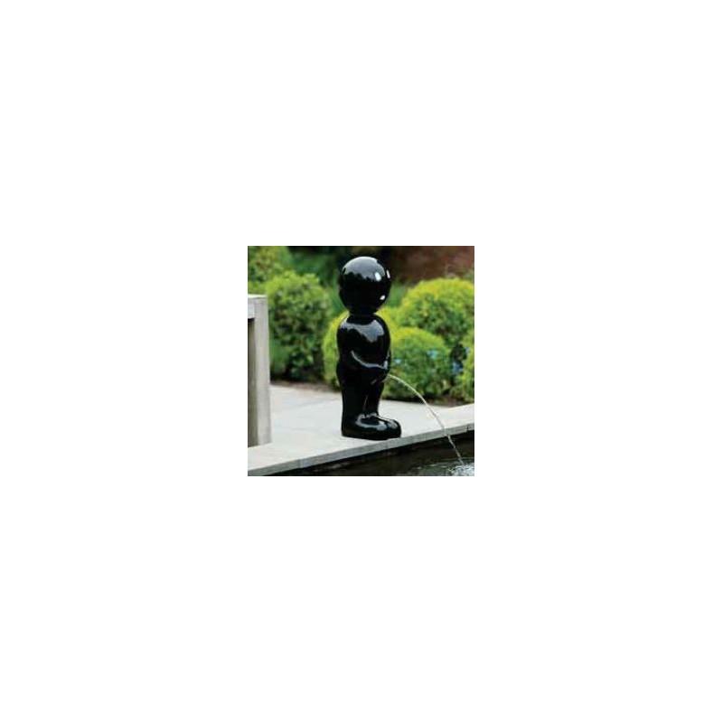 BOY II - Gargouille Manneken pis noir grand