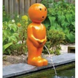 BOY IX - Gargouille Manneken pis orange grand
