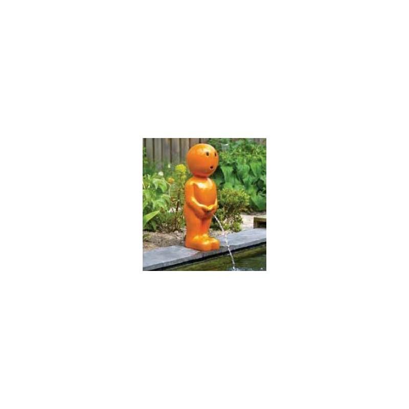BOY IX - Gargouille Manneken pis orange grand
