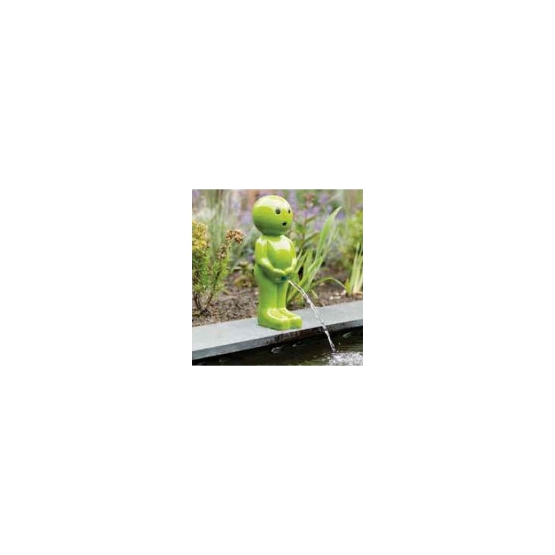BOY VIII - Gargouille Manneken pis vert petit
