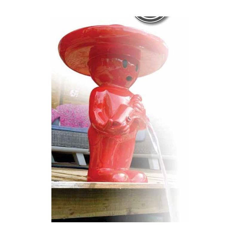 BOY MEXICANO III - Gargouille rouge grand