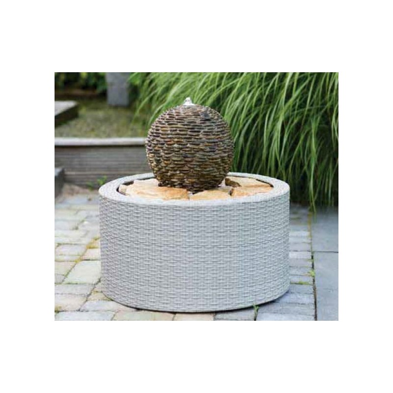 DECOWALL WICKER VII - habillage pour fontaine