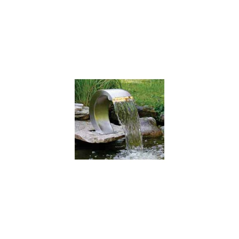 MAMBA S LED - Petite cascade inox courbée avec eclairage LED