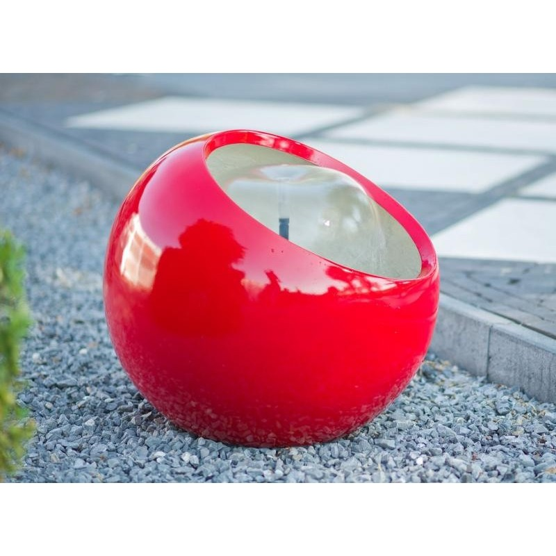 RIBERA - fontaine boule laquée rouge
