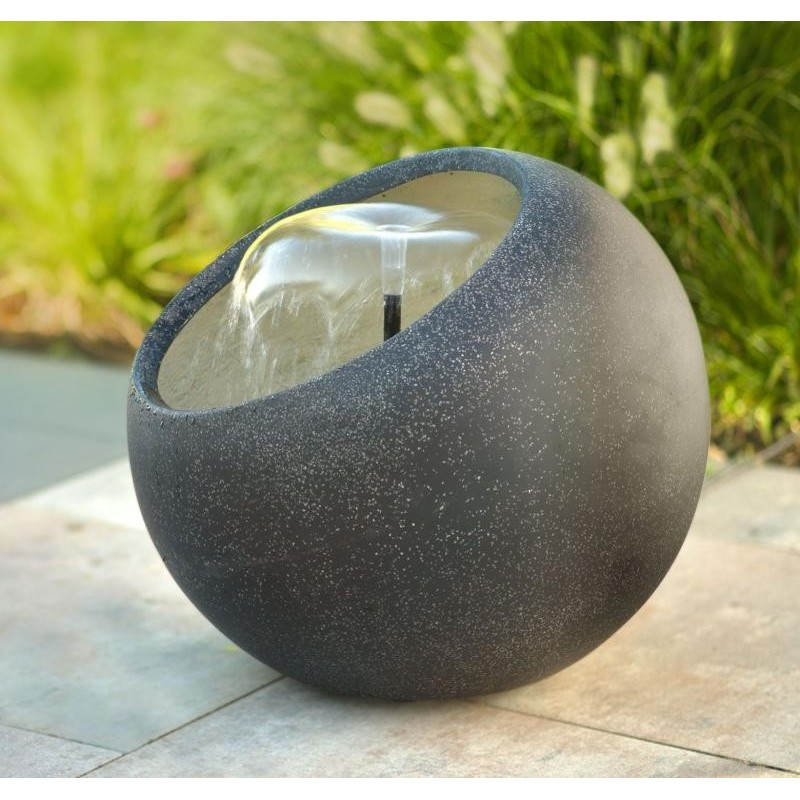 VARKO - fontaine boule gris mat