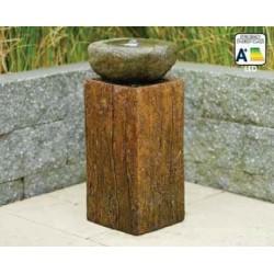 NASHVILLE - Fontaine moderne bois et pierre LED