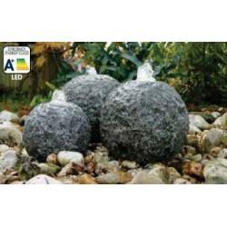 KOZANI - 3 sphères en granite   LED