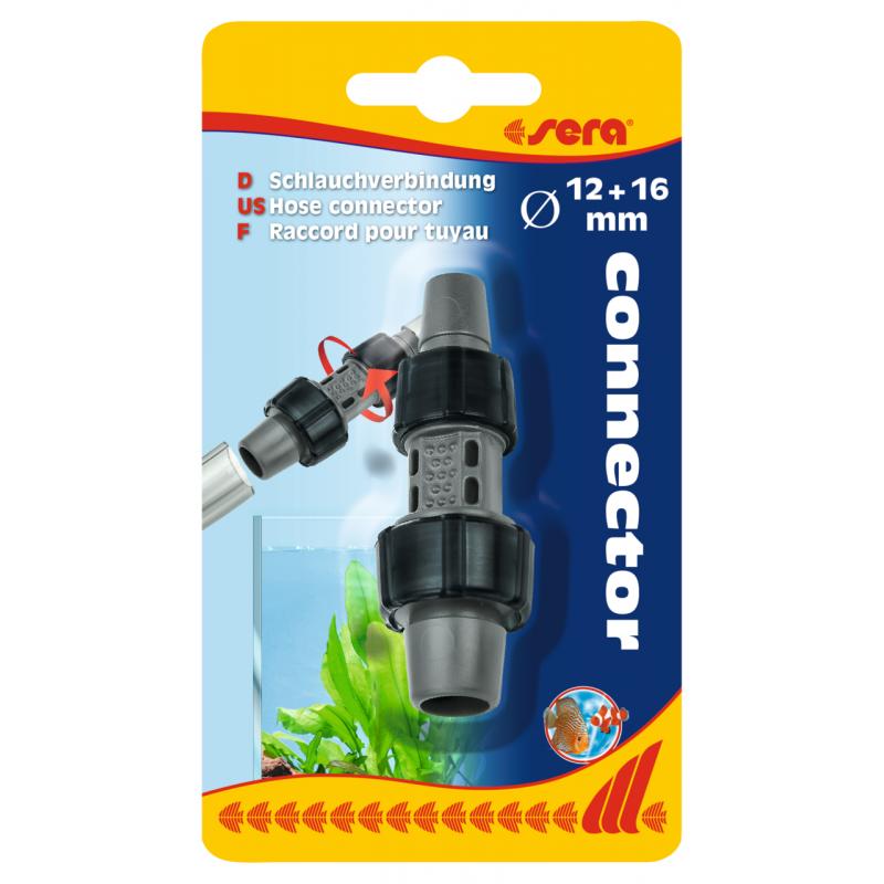 Raccord pour tuyau Ø 12 + 16 mm