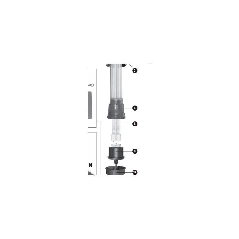 Lampe à amalgame pour filtration UV-C Sera 55X